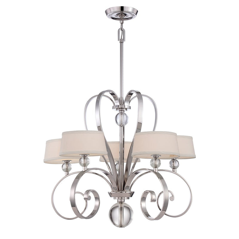 Quoizel Lighting Madison Manor 5lt Chandelier Imperial Silver by Quoizel