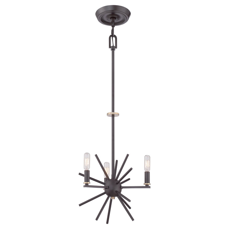 Quoizel Lighting Uptown Carnegie 3lt Chandelier by Quoizel
