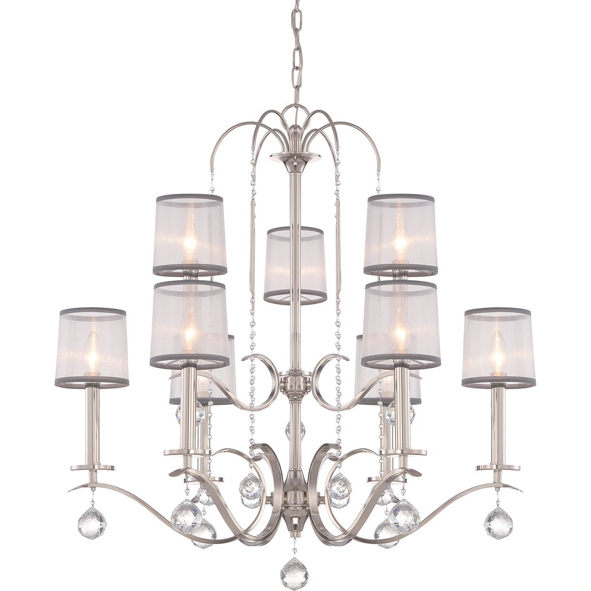 Shop now whitney 9lt two tier chandelier by quoizel dandelion quoizel lighting whitney 9lt two tier chandelier by quoizel arubaitofo Image collections