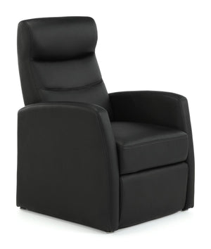 Serene Furnishings Armchair Faux Leather Push Back Recliner Chair Black By Serene Furnishings