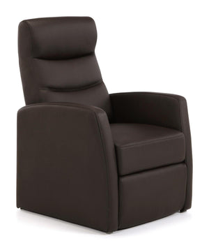 Serene Furnishings Armchair Faux Leather Push Back Recliner Chair Brown By Serene Furnishings