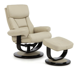 Serene Furnishings Armchair Risor Swivel And Bonded Leather Recliner Chair Taupe By Serene Furnishings