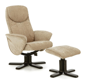 Serene Furnishings Armchair Stavern Swivel And Fabric Recliner Chair Mink By Serene Furnishings