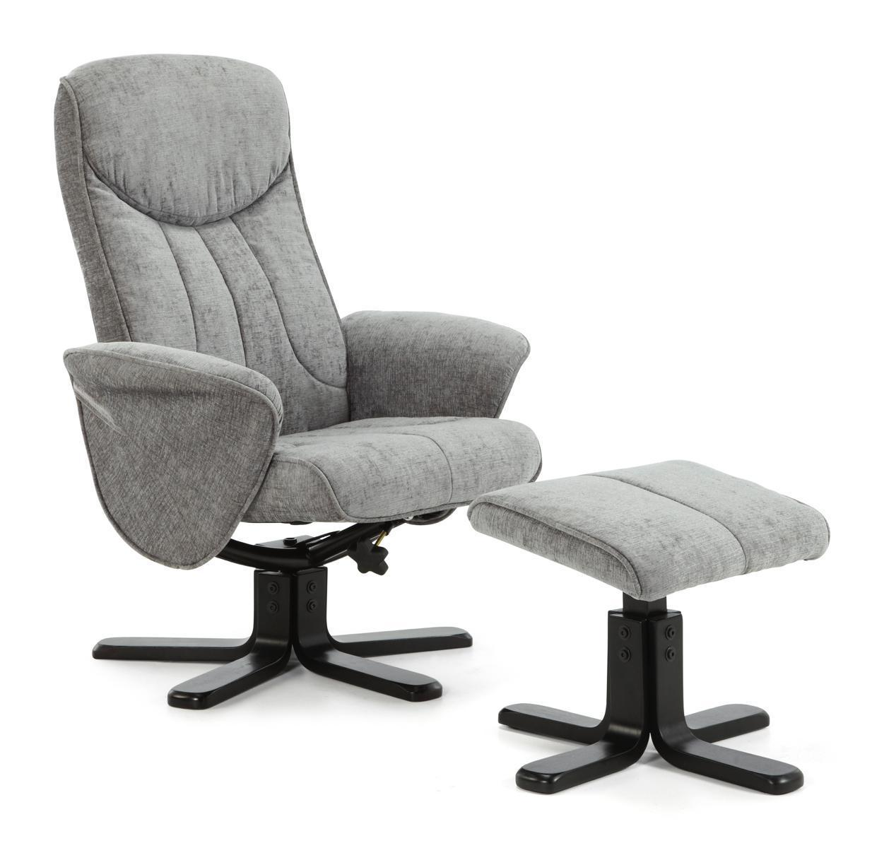shop now stavern swivel and fabric recliner chair steel by serene