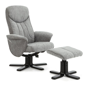 Serene Furnishings Armchair Stavern Swivel And Fabric Recliner Chair Steel By Serene Furnishings