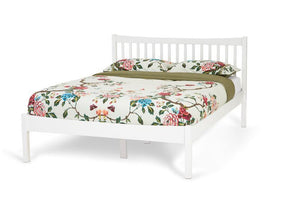Serene Furnishings Bed 150CM Alice Hevea King Size Bed, Opal White By Serene Furnishings