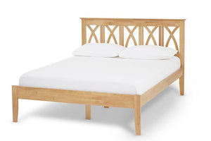 Serene Furnishings Bed 150CM Autumn Hevea King Size Bed Honey Oak By Serene Furnishings