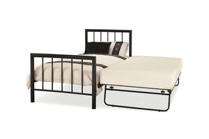 Serene Furnishings Bed 90 CM Black Single Bed And Guest Bed By Serene Furnishings