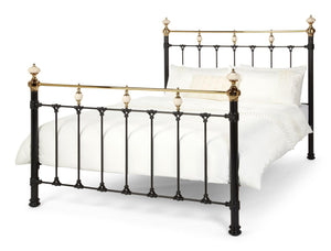 Serene Furnishings Bed Abigail 180 CM Black And Brass Super King Size Bed By Serene Furnishings