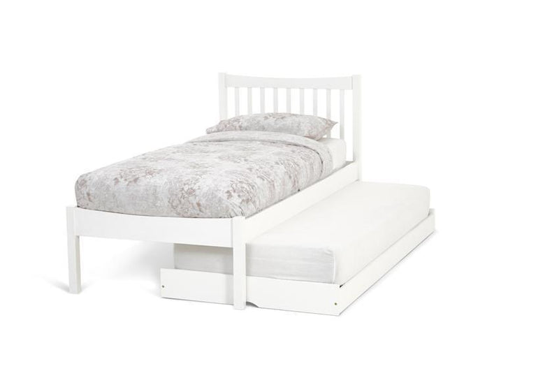 Serene Furnishings Bed Alice 90CM Hevea Single Bed And Guest Bed Honey Opal White By Serene Furnishings