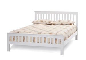 Serene Furnishings Bed Amelia 120 CM Small Double Opal White Bed By Serene Furnishings