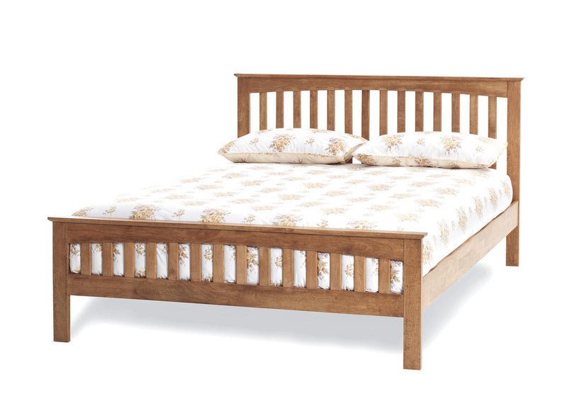 Serene Furnishings Bed Amelia 135 CM Double Honey Oak Bed By Serene Furnishings