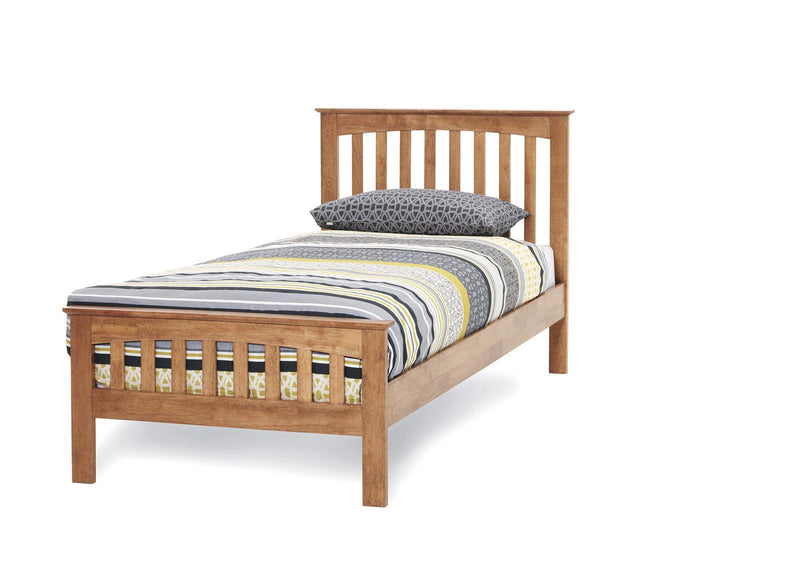 Serene Furnishings Bed Amelia 90 CM Single Honey Oak Bed By Serene Furnishings