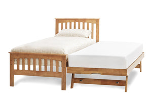 Serene Furnishings Bed Amelia Single Bed And Guest Bed Set Honey Oak By Serene Furnishings