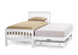 Serene Furnishings Bed Amelia Single Bed And Guest Bed Set Opal White By Serene Furnishings