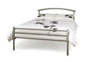 Serene Furnishings Bed Brennington 120cm Silver Small Double Bed By Serene Furnishings