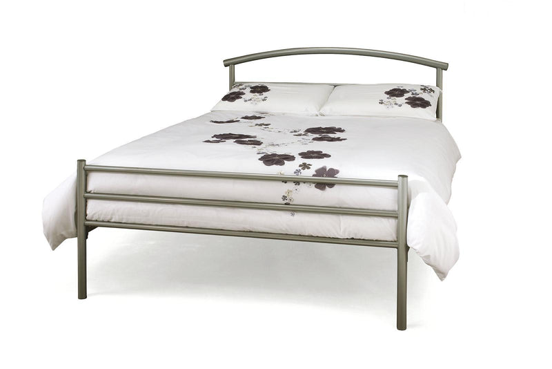 Serene Furnishings Bed Brennington 135 CM Silver Double Bed By Serene Furnishings
