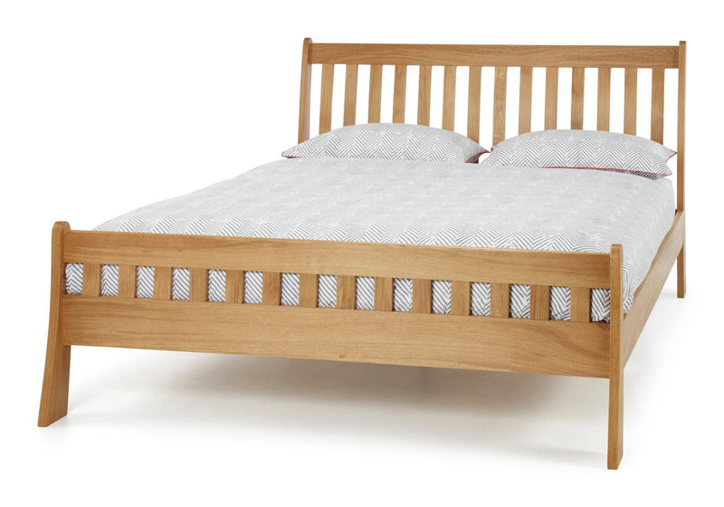 Serene Furnishings Bed Colchester 135 CM Oak Double Bed By Serene Furnishings