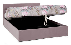 Serene Furnishings Bed Evelyn 120CM Upholstered Lavender Small Double Ottoman Bed By Serene Furnishings