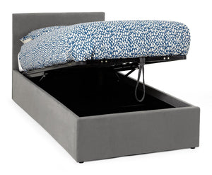 Serene Furnishings Bed Evelyn 90CM Upholstered Steel Single Ottoman Bed By Serene Furnishings