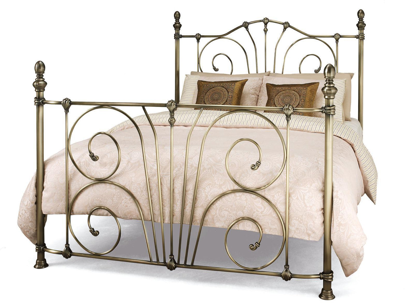Shop Now: Jessica 150 CM Antique Brass King Size Bed By Serene ...