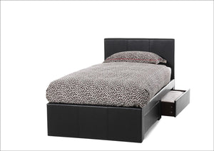Serene Furnishings Bed Latino 90 CM Brown Two Drawer Single Bed By Serene Furnishings