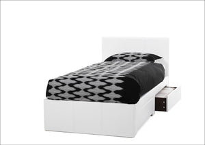 Serene Furnishings Bed Latino 90 CM White Two Drawer Single Bed By Serene Furnishings