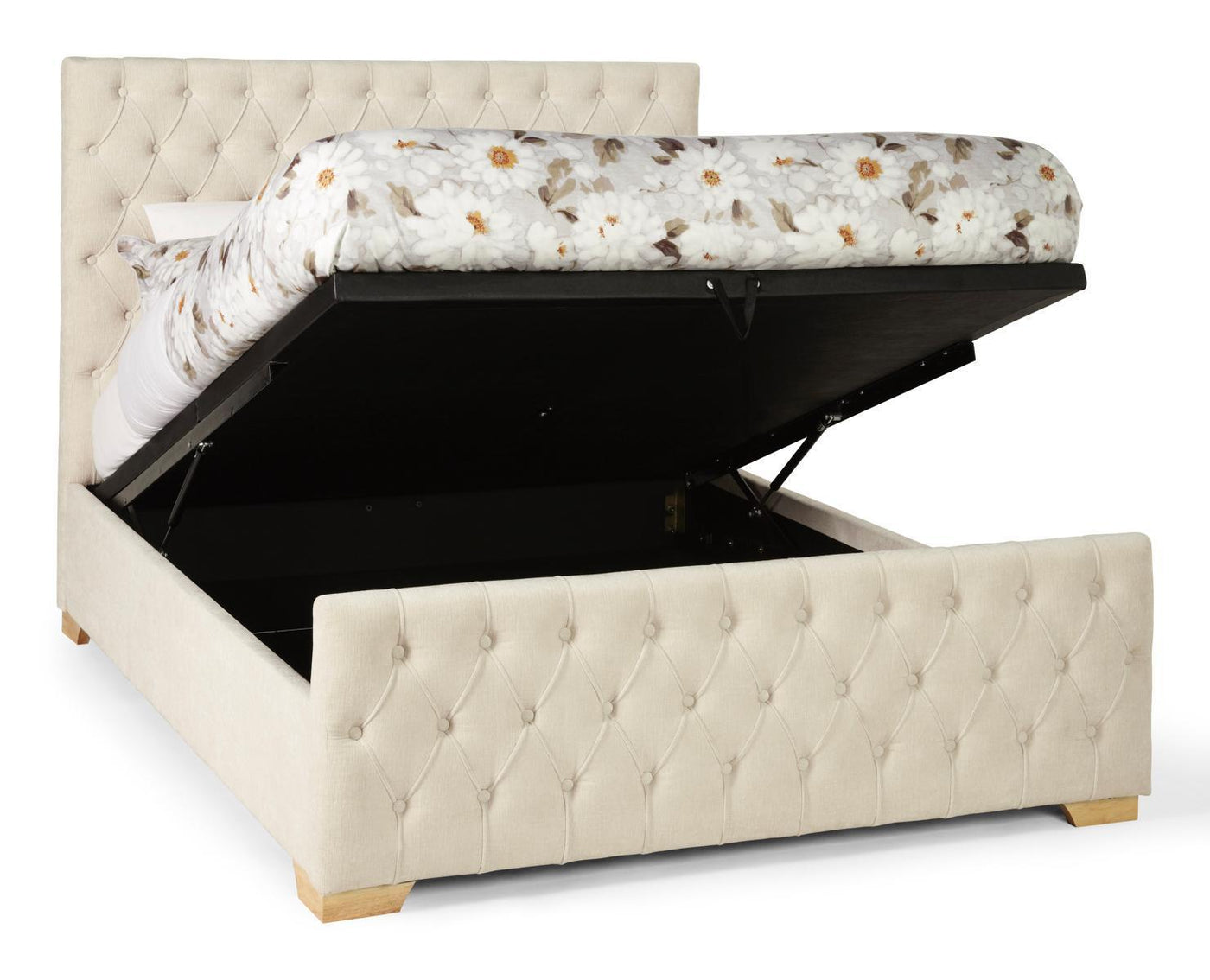 Shop Now Lillian 180cm Upholstered Pearl Super King Size Ottoman