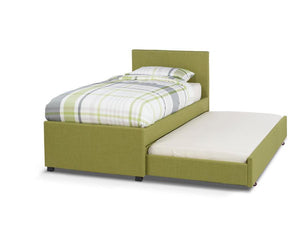 Serene Furnishings Bed Lily 90CM Upholstered Olive Single Bed And Guest Bed By Serene Furnishings