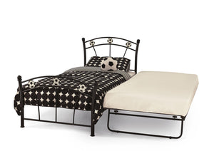 Serene Furnishings Bed Soccer 90 CM Black Single Football Bed And Guest Bed By Serene Furnishings