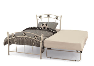 Serene Furnishings Bed Soccer 90 CM White SIngle Football Bed And Guest Bed By Serene Furnishings
