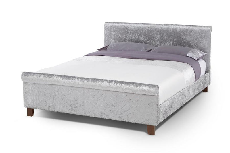 Serene Furnishings Bed Stella 180CM Upholstered Silver Super King Size Bed By Serene Furnishings