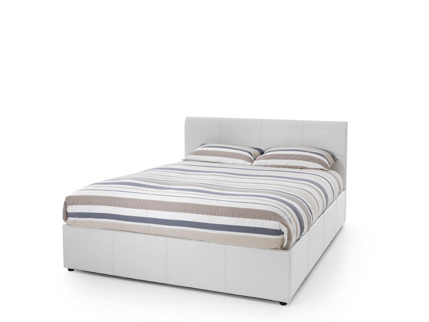 Shop Now Tuscany 180 Cm Super King Faux Leather White Ottoman Bed