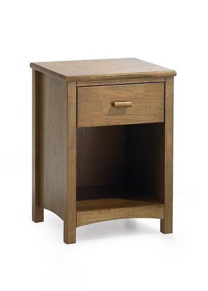 Serene Furnishings Bedside Cabinet Eleanor 1 Drawer Honey Oak Bedside Cabinet By Serene Furnishings
