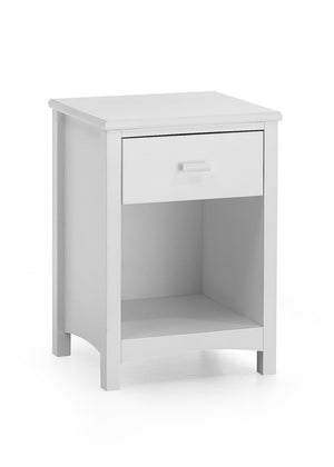 Serene Furnishings Bedside Cabinet Eleanor 1 Drawer White Bedside Cabinet By Serene Furnishings