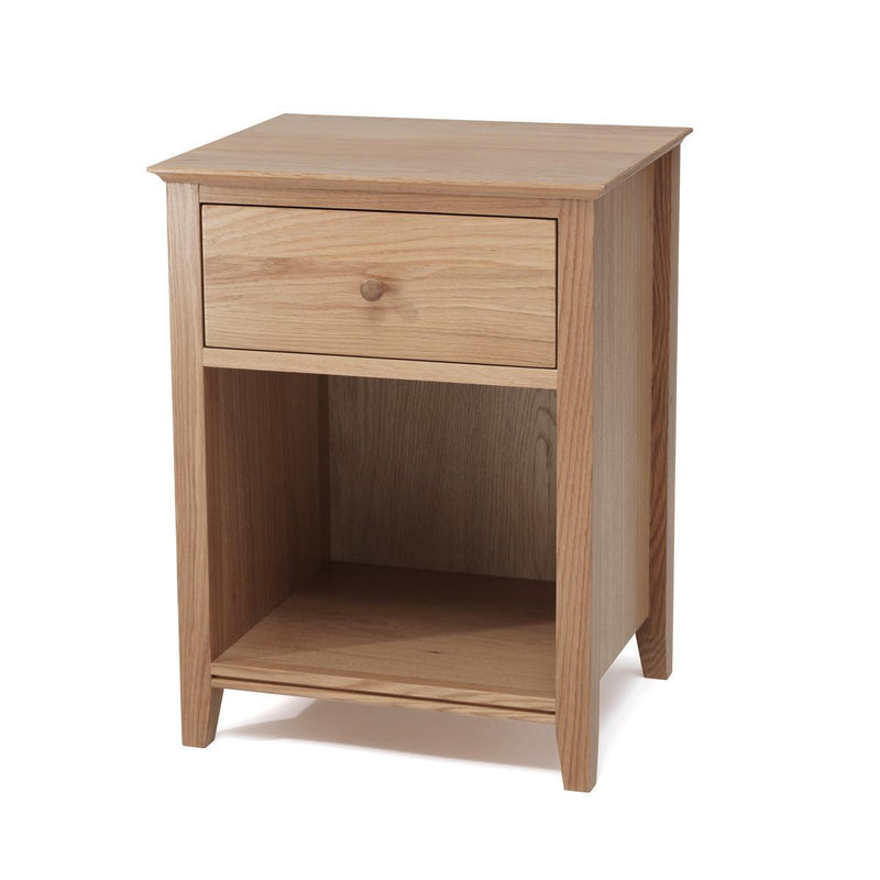Serene Furnishings Bedside Cabinet Salisbury 1 Drawer Oak Bedside Cabinet By Serene Furnishings