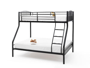 Serene Furnishings Bunk Bed 135 CM Oslo Black 3 Sleeper Bunk Bed By Serene Furnishings