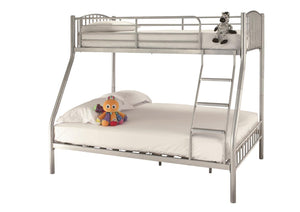 Serene Furnishings Bunk Bed 135 CM Oslo Silver 3 Sleeper Bunk Bed By Serene Furnishings