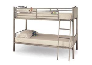 Serene Furnishings Bunk Bed 90 CM Oslo Twin Silver Bunk Bed By Serene Furnishings