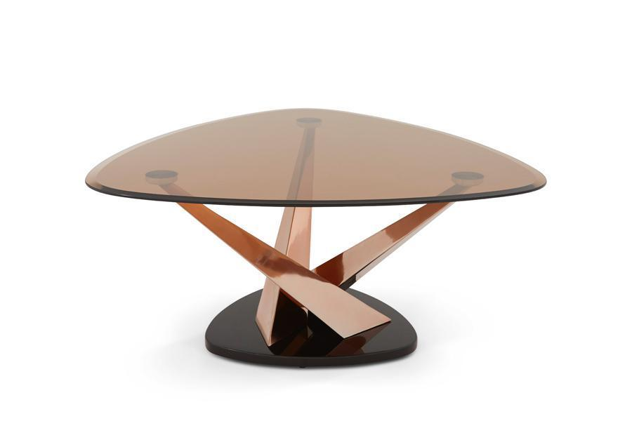 Shop Now Larissa Glass Top Coffee Table Rose Gold By Serene