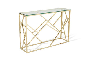 Serene Furnishings Console Table Phoenix Glass Top Console Tables Gold By Serene Furnishings