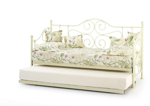Serene Furnishings Day Bed Florence 90 CM Gloss Ivory Single Day Bed & Guest Bed By Serene Furnishings