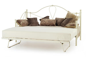 Serene Furnishings Day Bed Lyon 80 CM Ivory Small Single Day Bed & Guest Bed By Serene Furnishings