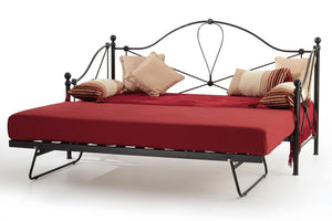 Serene Furnishings Day Bed Lyon 80 CM Small Single Black Day Bed & Guest Bed By Serene Furnishings