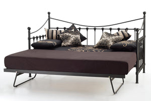 Serene Furnishings Day Bed Marseille 90 CM Black Single Day Bed & Guest Bed By Serene Furnishings