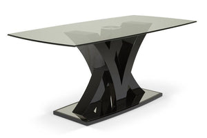 Serene Furnishings Dining Table Barcelona Contemporary Black Dining Table By Serene Furnishings