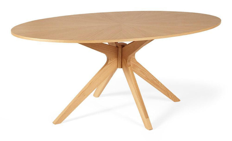 Serene Furnishings Dining Table Bexley Oak Oval Dining Table By Serene Furnishings