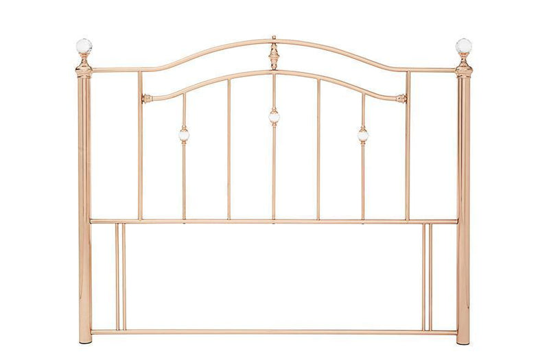 Serene Furnishings Headboard Ashley 120CM Rose Gold Small Double Headboard By Serene Furnishings