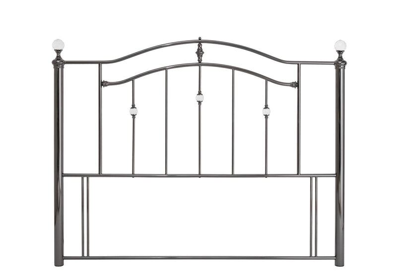 Serene Furnishings Headboard Ashley 150 CM Black Nickel King Size Headboard By Serene Furnishings