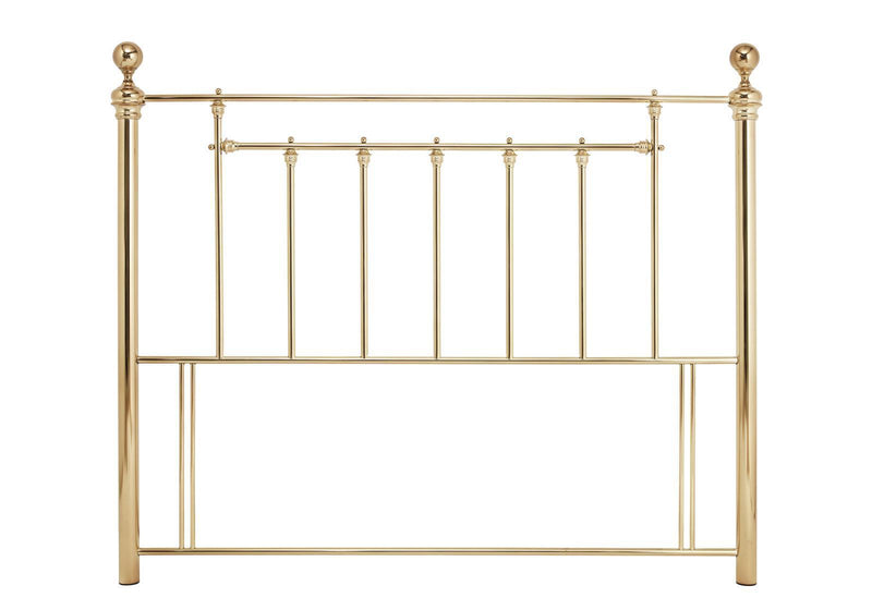 Serene Furnishings Headboard Benjamin 120 CM Brass Small Double Headboard By Serene Furnishings